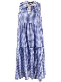 Max Mara клетчатое платье без рукавов