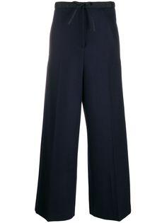 Jil Sander брюки прямого кроя с кулиской