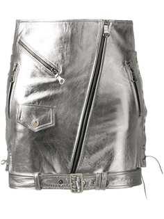 Manokhi юбка с эффектом металлик и завязками по бокам