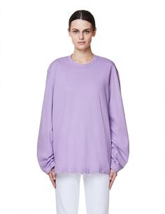 Фиолетовый хлопковый лонгслив Comme DES GarÇons