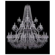 Люстра Bohemia Ivele Crystal 1410 1410/20+10+5/530/3d/Ni/V0300, E14, 1400 Вт