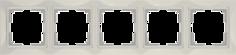 Рамка для выключателя Werkel WL03-Frame-05 a036634 слоновая кость
