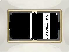 Рамка для выключателя Werkel WL03-Frame-01-DBL-ivory-GD a035259 слоновая кость/золото