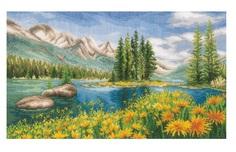 """Набор для вышивания крестом Vervaco """"Летний пейзаж гор"""", 44x20 см, арт. PN-0174811"""
