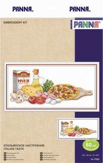 """Набор для вышивания крестом Panna """"Итальянское настроение"""", 33x16 см, арт. N-7065"""