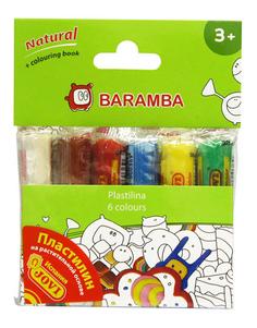 Пластилин BARAMBA 6 цветов