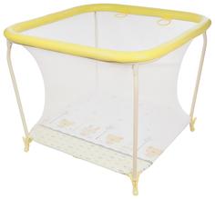 Манеж GLOBEX детский Квадрат (цвет: желтый) 1103