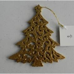 Елочная игрушка Феникс Present елка, 12x10x0,3 см