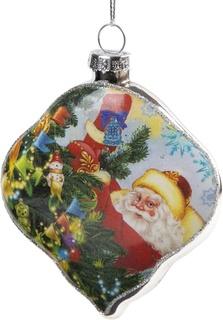 """Украшение елочное """"Дед мороз украшает елку"""", 7x1,5x8 см Феникс Презент"""