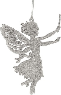 """Украшение елочное """"Фея"""", серебро, 14x9,5 см Феникс Презент"""