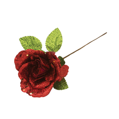 Елочное украшение Marko Ferenzo Grande Веточка Роза 1 шт 37x15 см