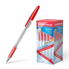 Ручка шариковая ErichKrause R-301 Classic Stick&Grip 1.0, цвет чернил красный (в коробке п