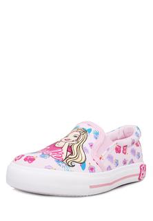 Слипоны для девочек Barbie, цв. розовый, р-р 28