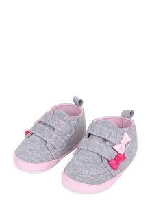 Пинетки для девочек Kari baby, цв. серый, р-р 17