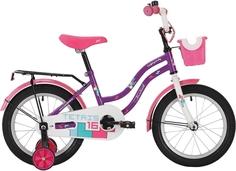 """Велосипед Novatrack Tetris фиолетовый 12"""""""
