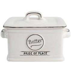 T&G Масленка Pride of Place Cool White, 13.5x9.7x10 см, белая 18078 TG