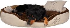 Лежак с бортами с подушкой беж.коричневый TRIXIE 100*70