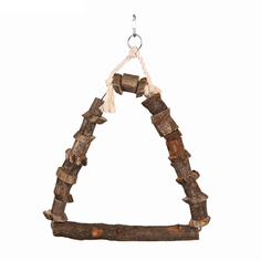 Игрушка для птиц Fauna International, качели, дерево, 20х15 см