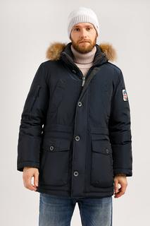 Зимняя куртка мужская Finn Flare W19-22010 темно-синяя L