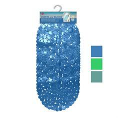 Коврик для ванн Камушки с ракушками 87x39см 3цв МультиДом