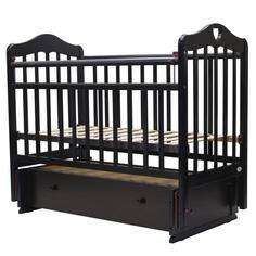 Кроватка Топотушки Оливия-7 сердечко венге, маятник универсальный, 120х60