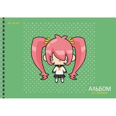 Альбом для рисования Аниме (20л 110г/м гребень) Unnika Land АСБ202038
