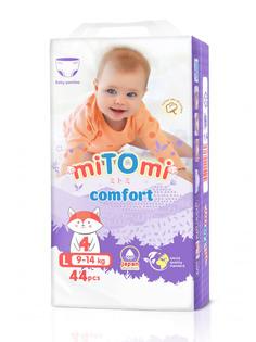 Подгузники-трусики miTOmi Comfort, L (9-14 кг), 44 шт.
