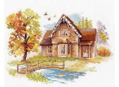 Набор для вышивания Алиса Сентябрьский домик арт.136179