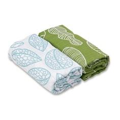 Набор муслиновых пеленок Qwhimsy Экология 2шт QSB004, 112х112 см