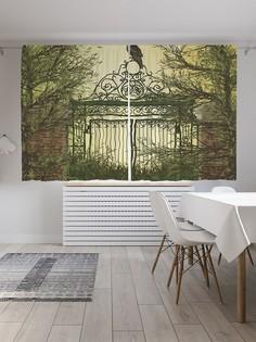 Шторы под лён «Ворон страж», серия Oxford DeLux, 290х180 см Joy Arty