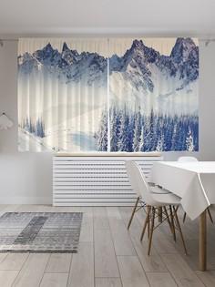 Шторы под лён «Чистейшие снега», серия Oxford DeLux, 290х180 см Joy Arty