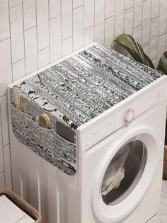 """Органайзер """"Иллюзия с березами"""" на стиральную машину, 45x120 см Ambesonne"""