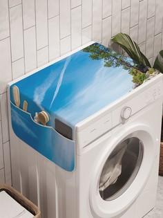"""Органайзер """"Каменный берег"""" на стиральную машину, 45x120 см Ambesonne"""