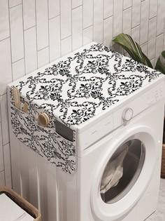"""Органайзер """"Строгие цветы"""" на стиральную машину, 45x120 см Ambesonne"""