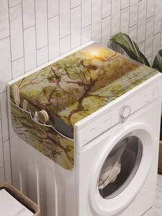 """Органайзер """"Солнце отдыхает на ветках"""" на стиральную машину, 45x120 см Ambesonne"""