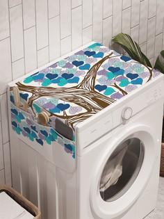 """Органайзер """"Лиственная любовь"""" на стиральную машину, 45x120 см Ambesonne"""