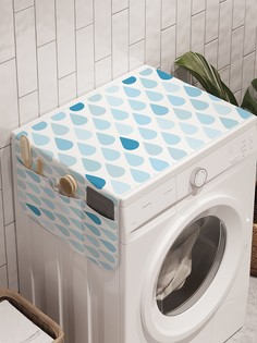 """Органайзер """"Сплошной ливень"""" на стиральную машину, 45x120 см Ambesonne"""