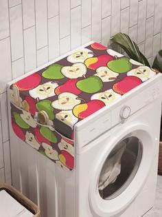 """Органайзер """"Яблочный коллаж"""" на стиральную машину, 45x120 см Ambesonne"""