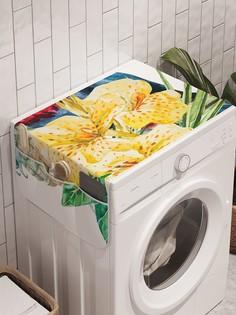 """Органайзер """"Тукан с ананасом"""" на стиральную машину, 45x120 см Ambesonne"""