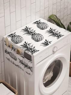 """Органайзер """"Коллекция ананасов"""" на стиральную машину, 45x120 см Ambesonne"""