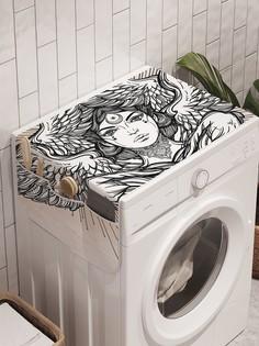 """Органайзер """"Крылатая девушка"""" на стиральную машину, 45x120 см Ambesonne"""