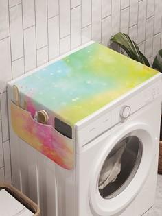 """Органайзер """"Красочные всплески"""" на стиральную машину, 45x120 см Ambesonne"""