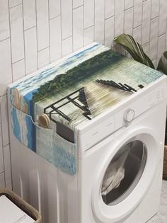"Органайзер ""Мостик на реке"" на стиральную машину, 45x120 см Ambesonne"