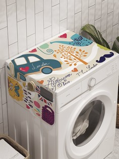 """Органайзер """"Английская скромность"""" на стиральную машину, 45x120 см Ambesonne"""