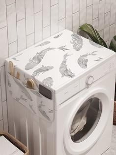 """Органайзер """"Радость для рыб"""" на стиральную машину, 45x120 см Ambesonne"""