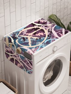 """Органайзер """"Светлые знаки хиппи"""" на стиральную машину, 45x120 см Ambesonne"""