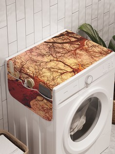 """Органайзер """"Величие леса"""" на стиральную машину, 45x120 см Ambesonne"""