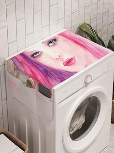 "Органайзер ""Рогатая девушка"" на стиральную машину, 45x120 см Ambesonne"