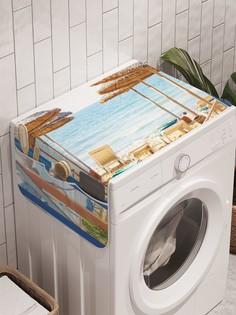 """Органайзер """"Вилла на летнем пляже"""" на стиральную машину, 45x120 см Ambesonne"""