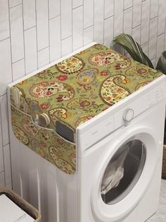 """Органайзер """"Зеленый пейсли"""" на стиральную машину, 45x120 см Ambesonne"""